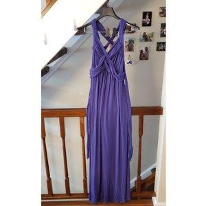 Motherhood Maternity Dresses - Motherhood Maternity Purple Sleeveless Maxi Dress
